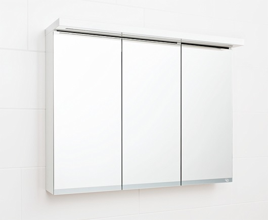 Reflect Inline mirror cabinet with lighting, two doors